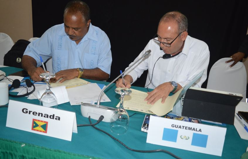 Reps from Grenada and Guatemala sign joint declaration