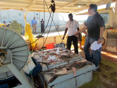 Jamaica Fisheries authorities intercept and process IUU fishing vessel